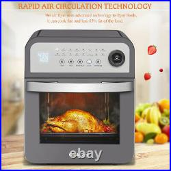 16-in-1 12 Quart Air Fryer Toaster Oven Pro Countertop Convection Oven Gray