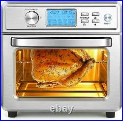 1700W Air Fryer Toaster Oven 6 Slice 21QT Convection Airfryer Countertop Power