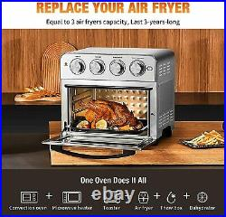 1700W Air Fryer Toaster Oven 6 Slice 24 QT Convection Airfryer Countertop Power