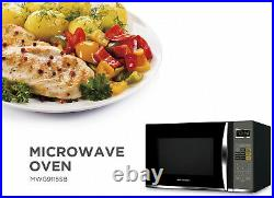 1.2 cu. Ft. 1100-Watt Countertop Microwave Oven with Grill in Stainless Steel