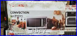 1.5 cu. Ft. Countertop Small Convection Microwave Stainless Steel Safety Lock
