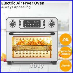 23L 1700W Electric Power Air Fryer Oven 2 speeds Countertop Toaster Oven Rack us