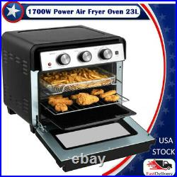 23QT Air Fryer Oven 1900W Countertop Toaster Oven Rotisserie Bake Rack Included