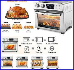 24QT Air Fryer Oven Muti-functional Toaster LCD Countertop withRotisserie Dehydrat
