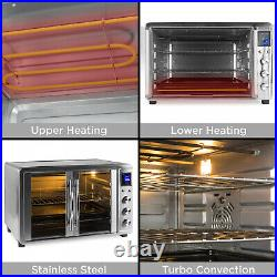 55L 1800W Extra Large Countertop Turbo Convection Toaster Oven With French Doors