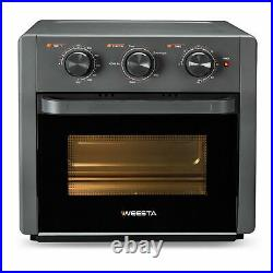 5-IN-1 Air Fryer Toaster Oven Pro Countertop Convection Oven Gray