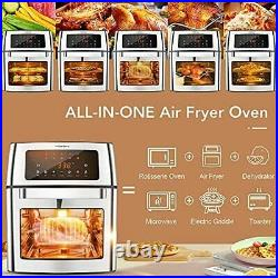 Air-Fryer Oven 16 Quart 10-in-1 Countertop Convection Toaster Oven Combo 360° ++