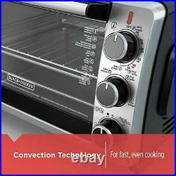 BLACK+DECKER 6-Slice Convection Countertop Toaster Oven Bake Pan Broil Toasting