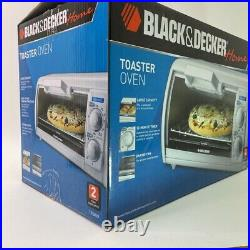 BLACK+DECKER Home TR0420 Toaster Oven White 30 Min Timer Baking Pan Electric New