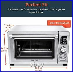 COSORI 11-in-1 Toaster Oven 6 Slice Convection Countertop Stainless Steel
