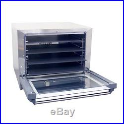 Cadco OV-023P Electric Convection Oven with 4 Pizza Heat Plate Shelves