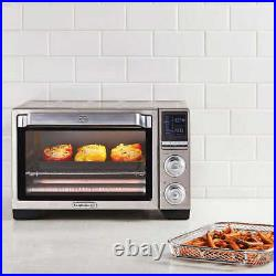 Calphalon Quartz Heat Countertop Toaster Oven with Air Fry, 0.88 Cu. Ft OPEN BOX