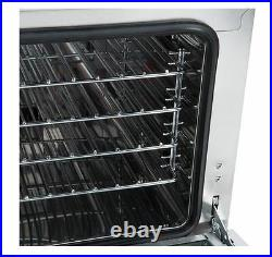 Commercial Countertop Half Sheet Size Convection Oven, 1.5 Cu. Ft, 120V, 1600W
