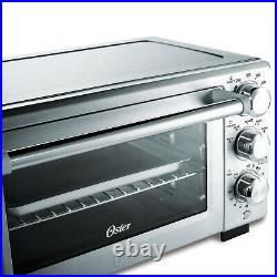 Convection Toaster Oven Countertop Stainless Steel 3 Shelf Large 12 Pizza Cook