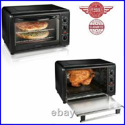 Countertop Oven With Convection Kitchen Revolving Rotisserie, Color Black