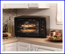 Countertop Oven With Convection & Rotisserie Portable Black Kitchen Bake Broil