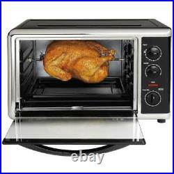 Countertop Toaster Oven Combo Kitchen Rotisserie & Convection Extra-Large Space