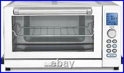 Cuisinart Deluxe Convection Toaster Oven Broiler, White and Stainless