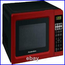 Digital Small Kitchen Countertop Microwave Oven 0.7 Cu. Ft 700W Mini Black Red