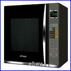 Emerson 1.2 Cu. Ft. 1100W Black Microwave with Grill Kitchen Cooking Black LED