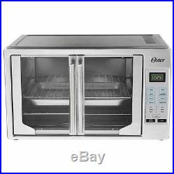 French Door Oster Digital Countertop Toaster Oven, Stainless Steel