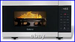 Galanz 0.9 Cu Ft Air Fry Microwave 900 Watts Countertop Convection 3-in-1 Stainl
