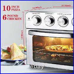 Geek Chef Air Fryer Toaster Oven 24QT Convection Airfryer Countertop Roast Broil