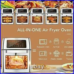 HIFRRUY Air Fryer 10-in-1 AirFryer Toaster Oven Combo 16 Quart Countertop Best Q