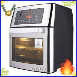 HIFRRUY Air Fryer, 10-in-1 AirFryer Toaster Oven Combo, 16 Quart Countertop Quart