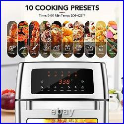 HIFRRUY+Air Fryer, 10-in-1+AirFryer Toaster Oven Combo, 16-Quart Countertop Quart