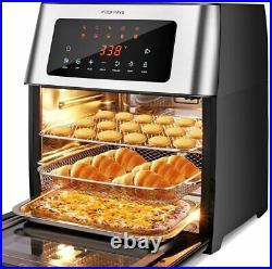 HIFRRUY Air Fryer, 10-in-1+AirFryer Toaster Oven Combo, 16 Quart Countertop Quart