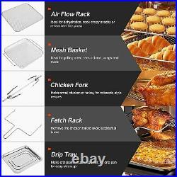 HIFRRUY+Air Fryer, 10in1, AirFryer Toaster Oven Combo, 16 Quart Countertop Quart