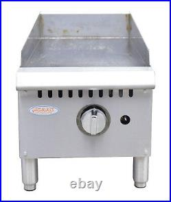 Hakka Heavy Duty Commercial 12 Countertop Gas Thermostat Griddles