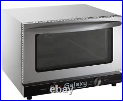 Half Size Countertop Convection Oven 120V Dial Glass 1600 Watts Standard Depth