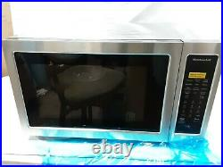 KitchenAid Stainless Steel Countertop Microwave Oven KMCC5015GSS 1.5 open box