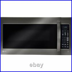 LG 2.0 Cubic Feet 1000W Black Stainless Over-the-Range Microwave, Chrome Silver