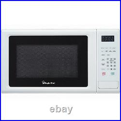 Magic Chef MCM1110W Microwave Oven Countertop 1.1 cu ft 1000 Watts White