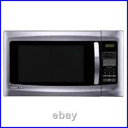 Magic Chef MCM1611ST 1.6 cu ft 1100 Watt Microwave Oven Countertop Stainless