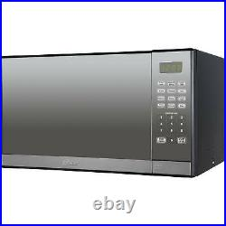 Mirror Finish Microwave Oven Oster 1.3 Cu. Ft. Stainless Steel with Grill NEW