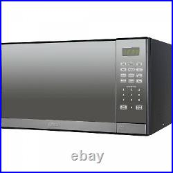 Mirror Finish Microwave Oven With Removable Grill Stainless Steel 1.3 CU. Ft