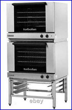Moffat E28M4/2 Electric Dble Convection Oven Full Size 4 Pan with Fixed Stand