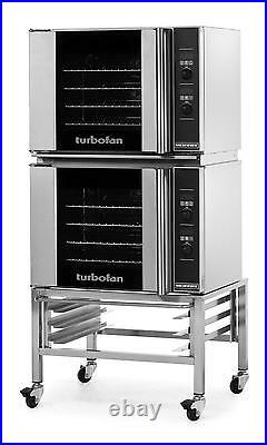 Moffat E31D4/2C Electric Double Convection Oven Half Size 4 Pan Mobile Stand