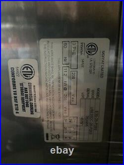 Moffat E35D6-26 Turbofan 35 Double Electric Convection Oven Full Size 6 Pan