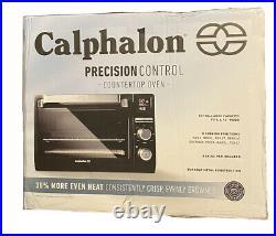 NEW Calphalon Precision Control Counter Top Toaster Oven black