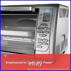 New BLACK+DECKER Countertop Convection Toaster Oven Stainless Steel
