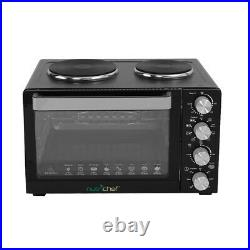 NutriChef PKRTO28 Kitchen Countertop Convection Oven Cooker with Warming Plates