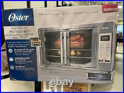 Oster Black Stainless Digital French Door Countertop Oven Turbo Convection dent