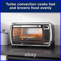 Oster Large Digital Countertop Convection Toaster Oven, Black & Stainless Steel