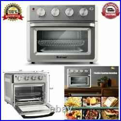 Oven Convection Toaster Air Fryer 7-In-1 Countertop Stainless Steel 19 Quarts