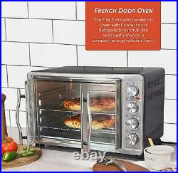 Pizza Convection Oven Double French Door Countertop, Broil Toast Stainless Seel